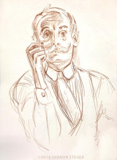 Portrait of Randall in Victorian costume